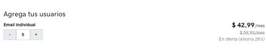 Precio email individual de GoDaddy