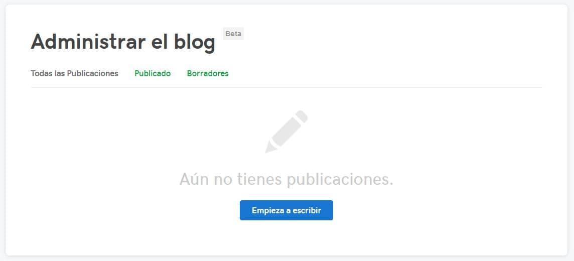 Administrá tus publicaciones de blog