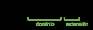 Ejemplo de dominio y extensión de dominio web